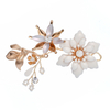 Flower Hairband Wedding Hair Pin Accessories Jewelry Handmade Pearl Crystal Headpiece For Women
