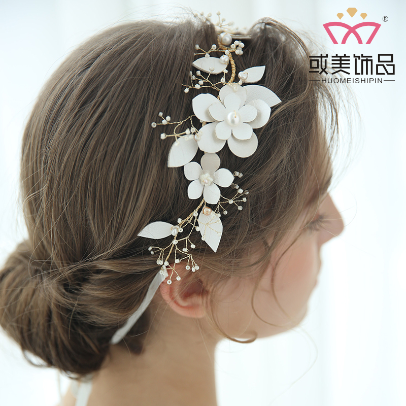 Fancy Freshwater Pearl Headband Sweety Girls Bridal Wedding Headpiece