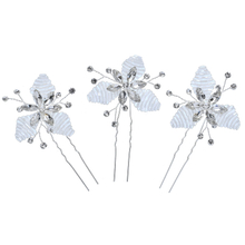Crystal Rhinestone Silver Bridal Accessories Wedding Fancy Beads Hair Pins