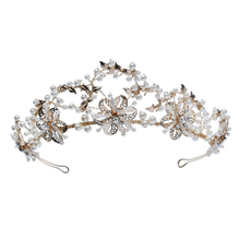 Luxury Crystal Bridal Headband Decorative Princess Wedding Pearl Tiaras Crowns