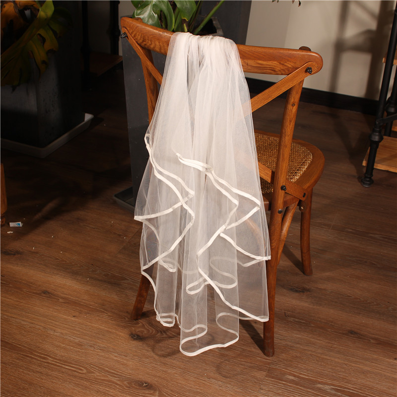 Fashion Latest Short Two Layer Wedding Bridal Women Veil With Comb