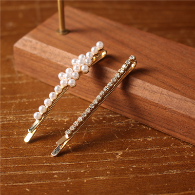 Vintage Metal Elegant Party Handmade Barrette Wedding Pearl Hair Clips