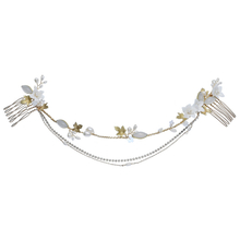 High Quality Crystal Bridal Headpiece Bridal Ceramic Flower Wedding Hair Combs