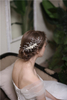 New Style White Pearl Jewelry Rhinestone Flower Bridal Hair Comb