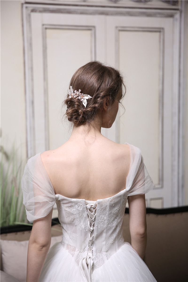 Handmade Lady Flower Hair Comb Bridal Tiara Hair Accessories