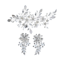 Wedding Jewelry Bridal Headpiece Zinc Alloy Decorative Diamond Earrings Set