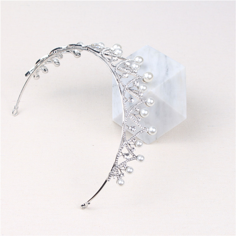 2020 New Arrivals Rhinestone Wedding Imitation Pearl Decorative Bride Crown