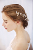 Bride Rhinestone Wedding Headpiece Hair Accessories Women Jewelry Fashion Hand Wired Gold Blossom Hair Comb