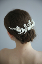 Wedding Flower Crystal Rhinestones Women Diamante Hair Clip Comb