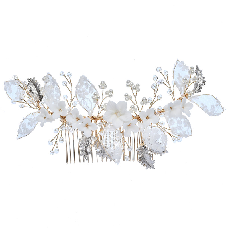 New Style Fashion Flower Tiara Rhinestones Hair Clips Bridal Hair Jewelry For Women