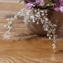 Alloy Leaf Flower Wedding Hair Accessories Beauty Pageant Crown