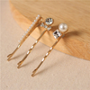 New Design Wedding Jewelry Fashion Metal Rhinestone Pearl Hair Pin Sets