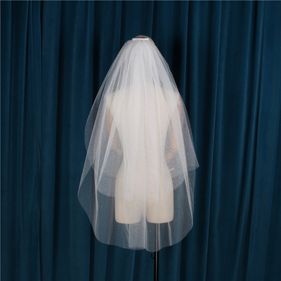 Charming Bright Three Layers Soft Wedding Bridal Veil Lace Women Wedding Veil