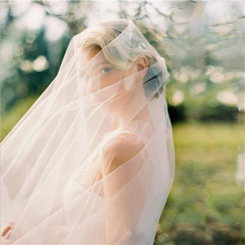 China Factory Price Handmade White Long Wedding Veil For Girls