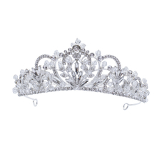 Fashion Silver Crystal Flower Hair Jewelry Accessories Handmade Wedding Headdress Tiaras Crowns