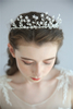 High Quality Handmade Crystal Hair Accessories Headband Bridal Wedding Gold Leaves Princess Tiara Crown