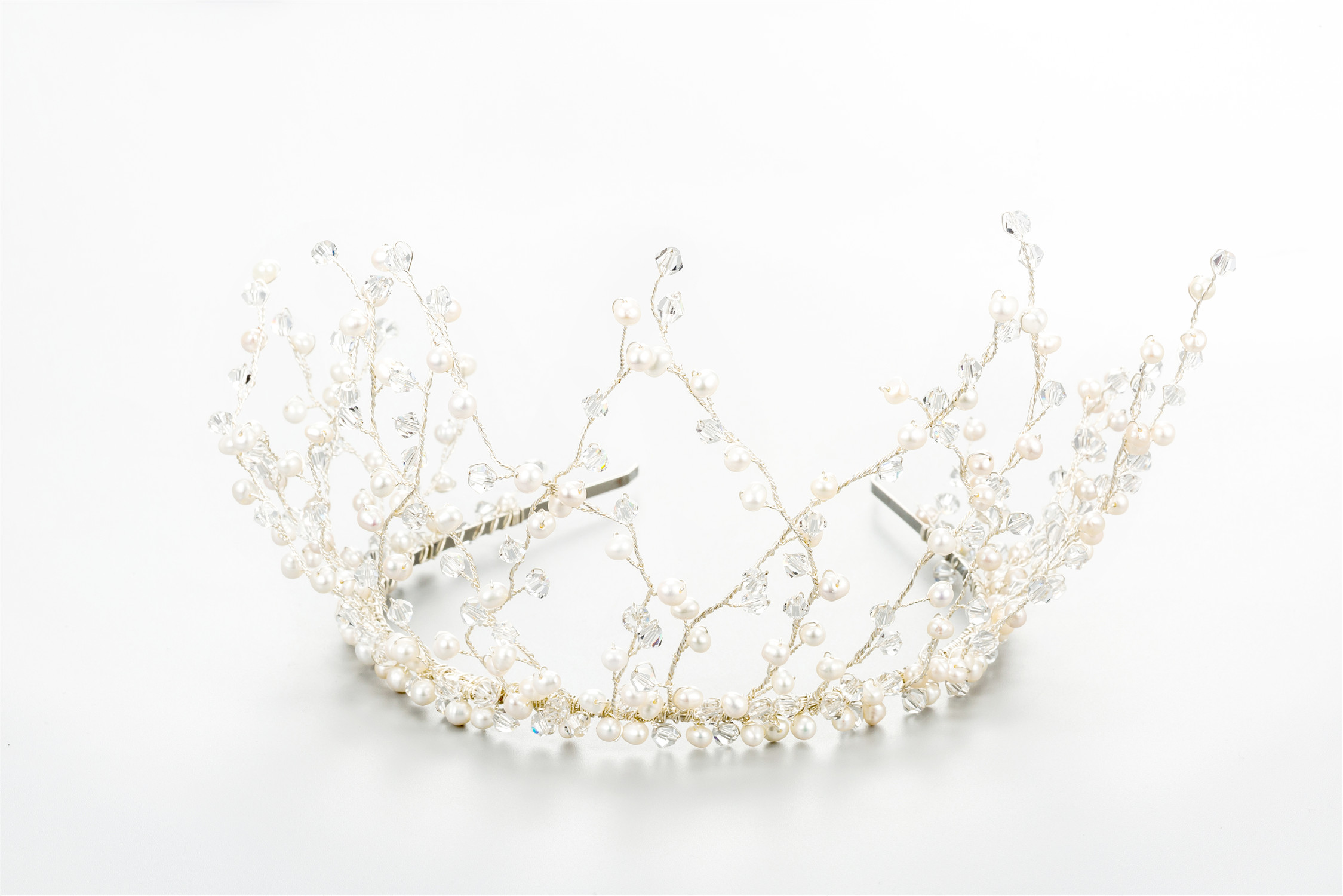 New Developed Zinc Alloy Wedding Decorative Imported Rhinestone Crown Of The Bride