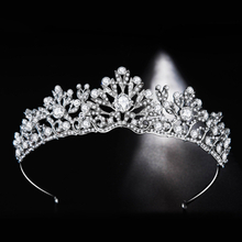 Korean European Fashion Decorative Crystal Stone Bridal Wedding Tiara Crown