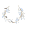 Fancy Princess Rhinestone Gold Leaf Crystal Bridal Accessories Hairband