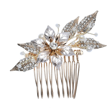 Pearl Flower Hair Pin Wedding Hair Accessories Bride Gold Hair Clips