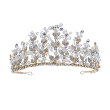 Handmade Silver Wedding Hair Accessories Crystal Alloy Wedding Bride Tiara