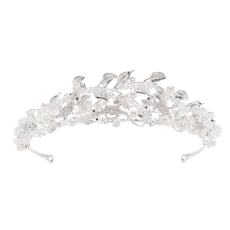 High Quality Silver Alloy Gecko Bride Rhinestone Crystal Beauty Crown
