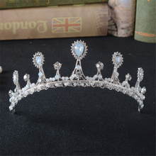 Eco-friendly Zinc Alloy Imported Rhinestone Accessories Wedding Party Crown