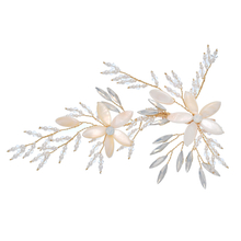 Flower Hair Clip Accessories Gold Beautiful Bridesmaid Head Clip
