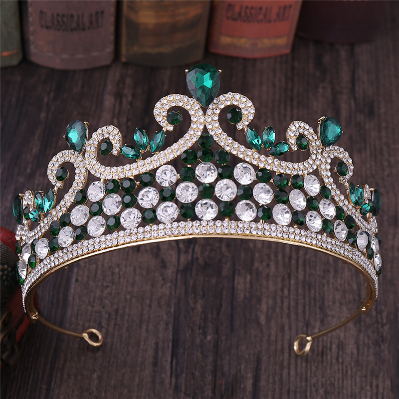 Hair Jewelry Different Color Rhinestone Headdress Queen Prom Princess Crowns Tiaras