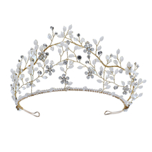 Hollow Out Crystal Headband Rhinestone Crown Princess Tiara Bridal