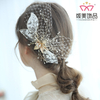 Headband Jewelry Handmade Pearl Lace Leaves Hairband Wedding Headdress Hair Clips