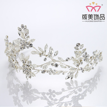 High Quality Rhinestone Flower Bridal Tiara Princess Wedding Crown