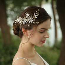 Big Rhinestone Flowers Wedding Korean Hairclips