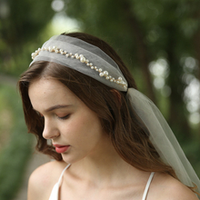 Wedding Pearl Decoration Hair vine Bride Veil Bridal Wedding Head Belt For Women