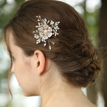 2020 Factory New Design Custom Bridal Crystal Flower Hair Pins