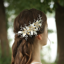 Fashionable Rhinestone Flowers Hair Clip For Wedding Bride
