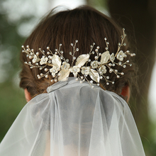 Custom 2020 Faux Pearl Rhinestone Bridal Hair Comb Fashion Jewelry Headpiece