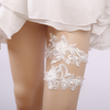 Fashion Style Personalized White Lace Floral Wedding Garter Belt