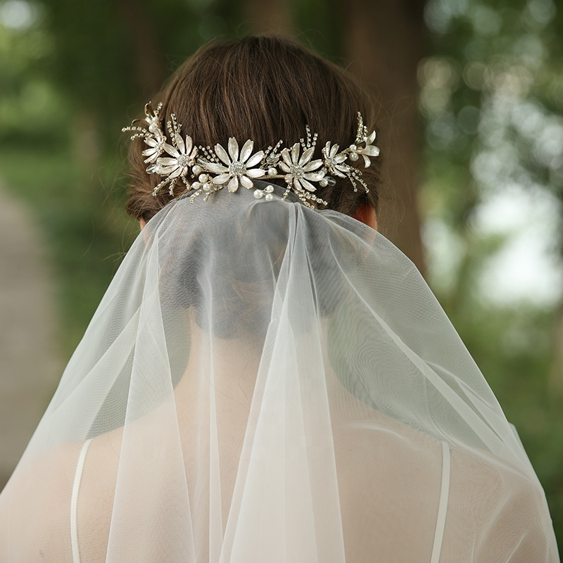 Youyou Jewelry Crystal Flower Bridal Headband 4 D2383